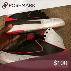 They Jordan 2 cost 220 new they clean size 9.5 Nice clean got the box Jordan Shoes Sneakers