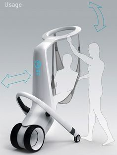 MediRobot, futuristic technology, transport hospital patients