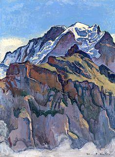 Ferdinand Hodler (1853 – 1918)Das Jungfraumassiv von Mürren aus, 1911