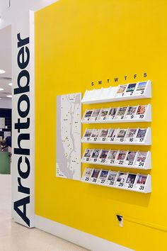 The festival calendar is made of collectible cards that feature each Building of the Day.