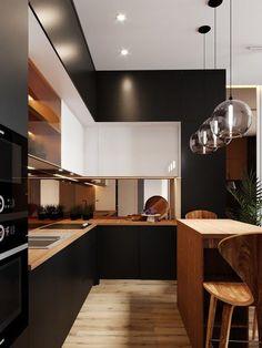 #kitchen #blackkitchen Best Kitchen Designs Kitchen Interior Kitchen Decor Kitchen Dining & Rustic\