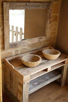 wood pallet sink idea