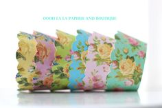 MADE TO ORDER Shabby Chic Colorful Floral by ooohlalapaperie