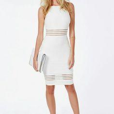 New Missguided White Midi Dress
