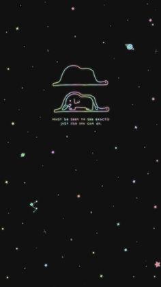Dark Wallpaper, Galaxy Wallpaper, Wallpaper Quotes, Wallpaper Backgrounds, Phone Screen Wallpaper, Wallpaper For Your Phone, Iphone Wallpaper, Petit Prince Quotes, Typography Images