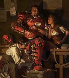 Steampunk Ironman, Jason Kang on ArtStation at https://www.artstation.com/artwork/steampunk-ironman-d7f03246-7f9d-4bbe-b677-06c7a10bd5b3