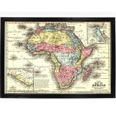 1858 Map of Africa