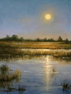 Harvest Moon by Paula B. Holtzclaw Oil ~ 16 x 12