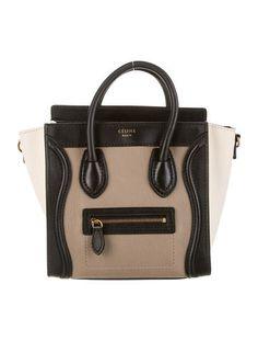 Céline Tricolor Nano Luggage Tote Luxury Consignment 17e1fbb8b0196