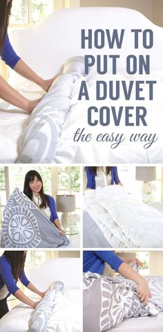 Watch and see the easiest way to put on a duvet cover! #home