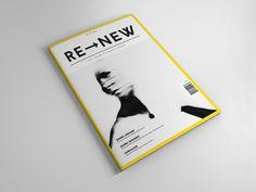 RE–NEW Magazine  01 by Daniel Blaker, via Behance