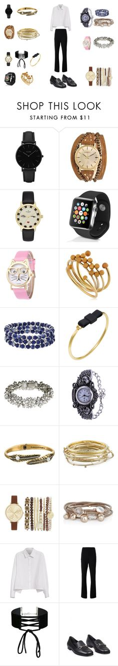 """часы и браслеты"" by marydzhonson on Polyvore featuring мода, CLUSE, Kahuna, Kate Spade, Apple, Isabel Marant, Chaps, Marc by Marc Jacobs, Ben-Amun и Rebecca Minkoff"