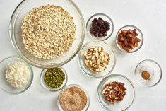 Dried Figs, Dried Cherries, Healthy Muesli Recipe, Healthy Recipes, Diet Recipes, Vegetarian Recipes, Cooking Recipes, Raspberry Crumble Bars, How To Make Granola
