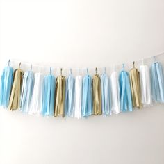 Excited to share the latest addition to my #etsy shop: Blue Gold Tassel Garland Baby Boy 1st Birthday Tassel Banner Blue Gold Baptism Christening Decorations Blue Gold Baby Shower Its a Boy