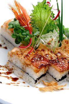 Anago Oshizushi, Square Shape Conger Eel Pressed Sushi