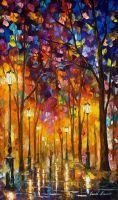 Repeated Feelings by Leonid Afremov by Leonidafremov