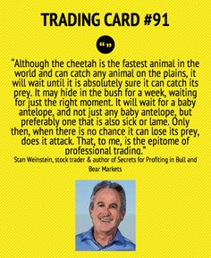 Trading Card #91: Be Very Selective in your Trades by Stan Wienstein