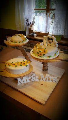 Hochzeitstorte sonnenblumen