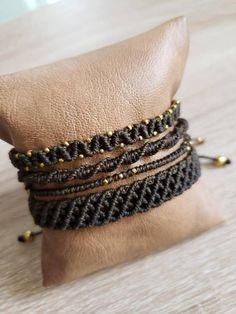 Bracelet Crafts, Macrame Bracelets, Bracelet Set, Micro Macramé, Macrame Patterns, Macrame Jewelry, Bead Earrings, Etsy Jewelry, Friendship Bracelets