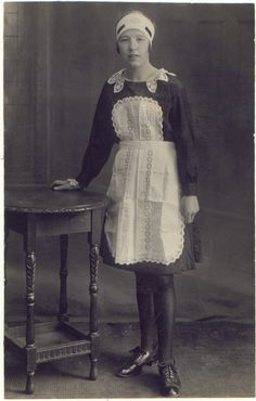 Young housemaid, 1920s.