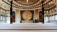 """Islamic symbolism is an important part of Fadillioglu's designs.""""It might be a color, it might be a texture, it might be a form. But each and every piece I have designed in the mosque has some kind of connection with tradition,"""" she said."""