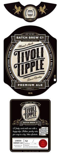 Tivoli Tipple Ale by Jon May, via Behance