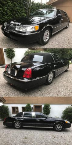 Johnny Cash's 2001 Lincoln Town Car Is Ridiculously Cool. The Man In Black wouldnt drive anything uncool. Big Black, Black Men, June And Johnny Cash, Panther Car, Lincoln Town Car, Cadillac Fleetwood, Automatic Transmission, Old Cars, Lineup