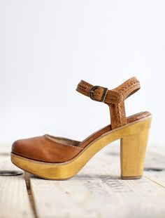 The Frye Company's Jessie Bohemian Two Piece: a vintage-inspired shoe with a wooden platform heel.