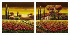 """""""Sunset in Tuscany"""" by Mario Jung www.thornwoodgallery.com"""