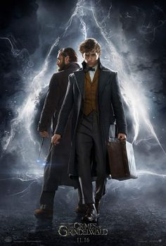 """Directed by David Yates. With Eddie Redmayne, Katherine Waterston, Johnny Depp. The second installment of the """"Fantastic Beasts"""" series set in J. Rowling's Wizarding World featuring the adventures of magizoologist Newt Scamander. 2018 Movies, Hd Movies, Movies To Watch, Movies Online, Movies Free, Movie Tv, Netflix Movies, Eddie Redmayne, Fantastic Beasts Movie"""