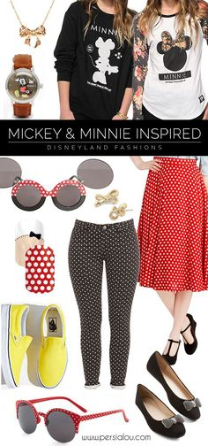 What to Wear at Disneyland - Fashions inspired by Mickey and Minnie Mouse