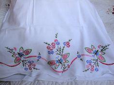 Sweet Dreams Vintage White Cotton Pillowcase Sham by AnnasDream