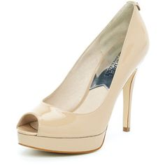 This classic nude peep toe stiletto would be a perfect fit for the bride.  Wether indoor or outside this shoe provides comfort while looking classy.