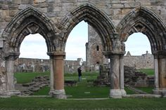 Architecture Terms Gothic Arch: The pointed arches of the Gothic Era.