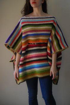 crochet Folk poncho