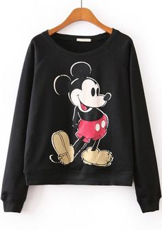 Sweat Mickey, Mickey Mouse Sweatshirt, Sweet Shirt, Mode Geek, Cute Disney Outfits, Disney Clothes, Hoodie Sweatshirts, Hoodies, Disney Shirts