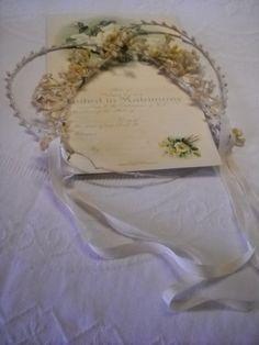 Vintage Wax Flower Bridal Headpiece