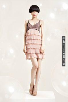 Erin Fetherston Resort 2012, fabulous little dress, black, nude | CHECK OUT MORE IDEAS AT WEDDINGPINS.NET | #weddingfashion