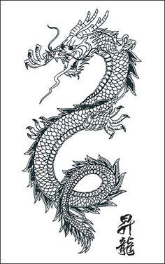 TATTOOS: Dragon Tattoo Stencils # 4