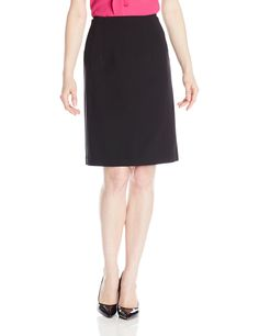 Ellen Tracy Women's Petite Circle Skirt, Black, 8 Petite. That easy, ladylike skirt every wardrobe needs. Made of double crepe, this perfect circle skirt features on-seam pockets and hits at the knee. Wear it with blouse for the office or throw on a chic little cardigan for a flirty after hours look.