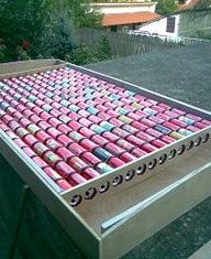 DIY Solar panels made of pop cans for home solar heating