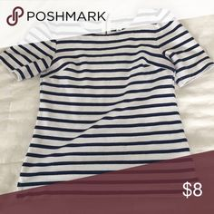 Old Navy Nautical Striped Shirt Stretchy fabric with zipper in the back at the top. Old Navy Tops Blouses