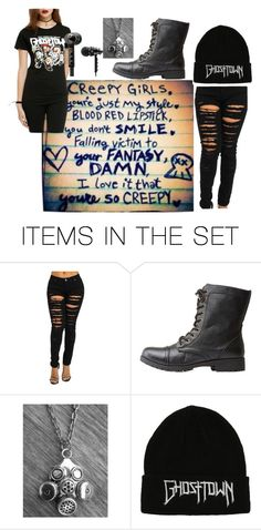 """ghost town"" by rawrmeow636 on Polyvore featuring art"