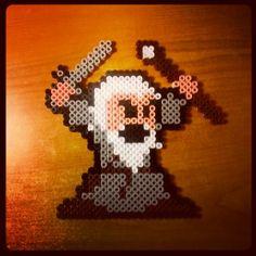 Gandalf The Hobbit hama beads by panzer256