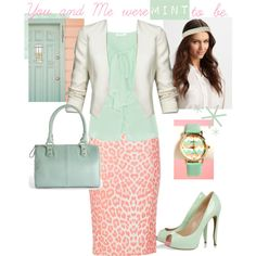 """""""Mint to be."""" by modestlyme97 on Polyvore"""