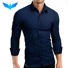 b75d21b0ba Mens Shirt Brand 2017 Male Long Sleeve Shirts Casual Hit Color Slim Fit
