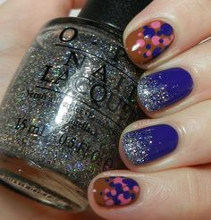 Eye catching! Figured id do it correctly and link it to the page! Let them have Polish!: O.P.I Nordic Mish Mash Nail Art Look