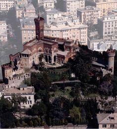 (1892) GENOVA (GE) CASTELLO D'ALBERTIS by Ideato dallo stesso D'ALBERTIS - che ne fece sua dimora - con un gusto del collage architettonico