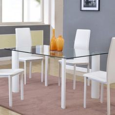 Chintaly Riana Glass Top Dining Table - Walmart.com