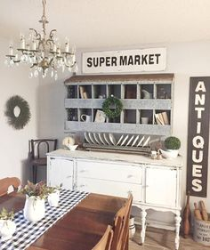 DIY Farmhouse Style Buffet | Dining room buffet, Entryway tables and on